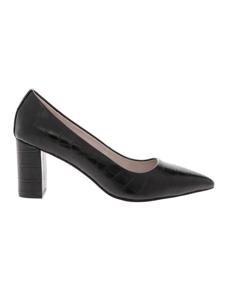 Ella Black Croc Print Leather Heel image 1