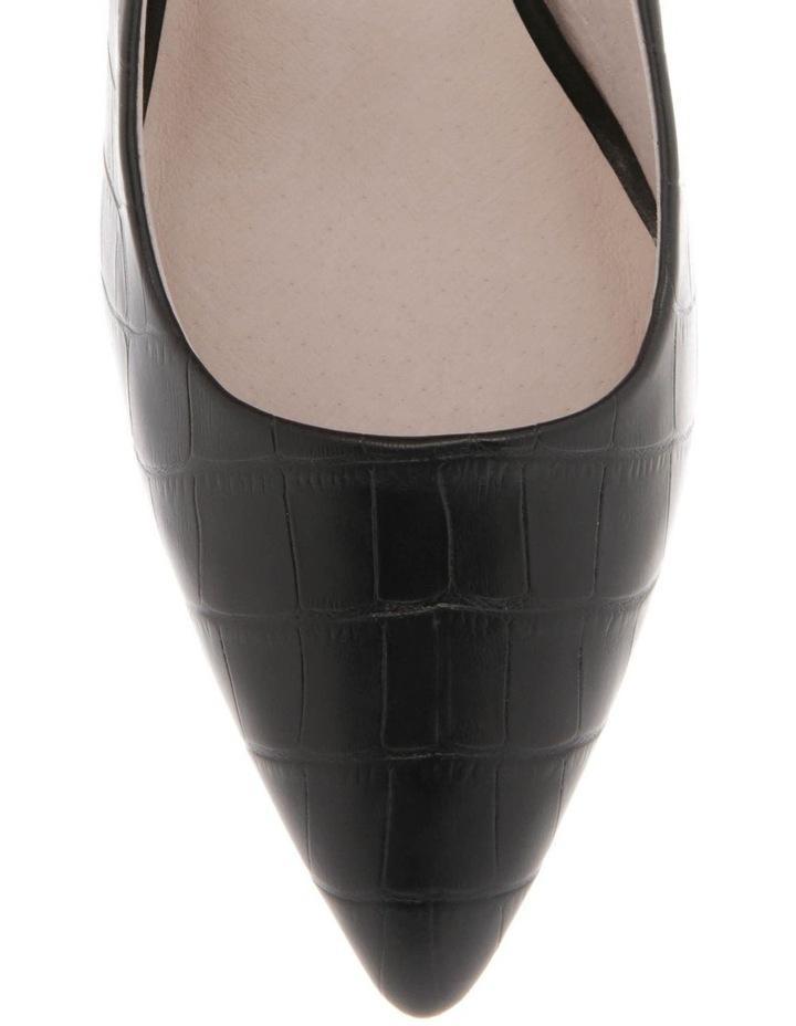 Ella Black Croc Print Leather Heel image 3