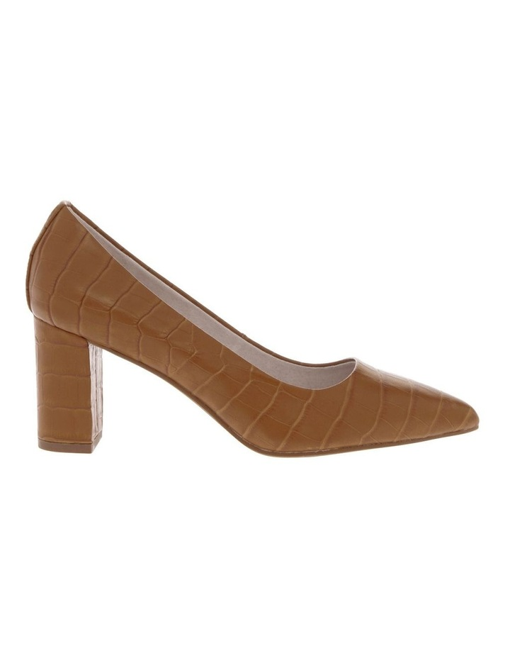 Ella Tan Croc Print Leather Heel image 1