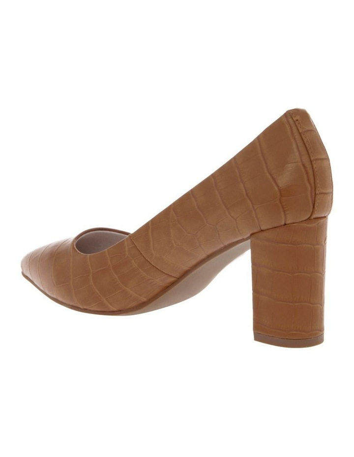 Ella Tan Croc Print Leather Heel image 2