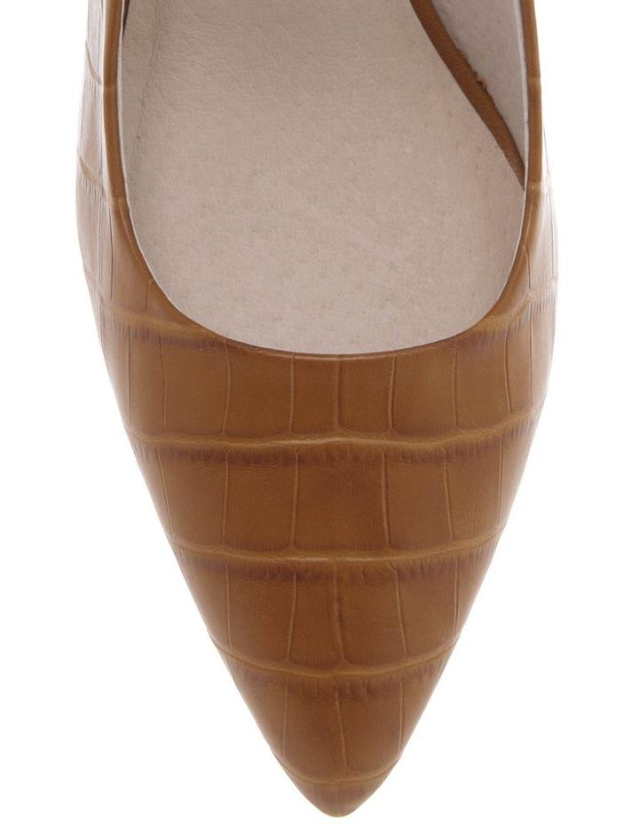 Ella Tan Croc Print Leather Heel image 3