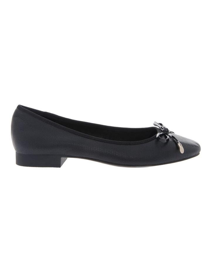 Yasmin Black Embossed Leather Heel image 1