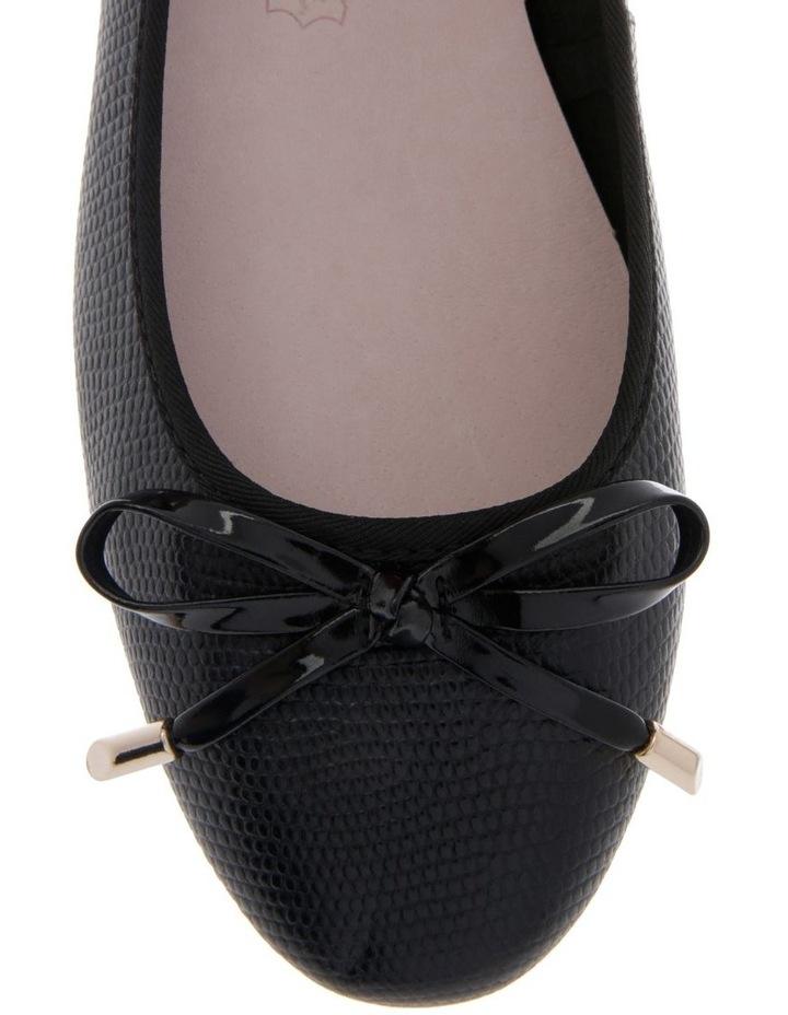 Yasmin Black Embossed Leather Heel image 3