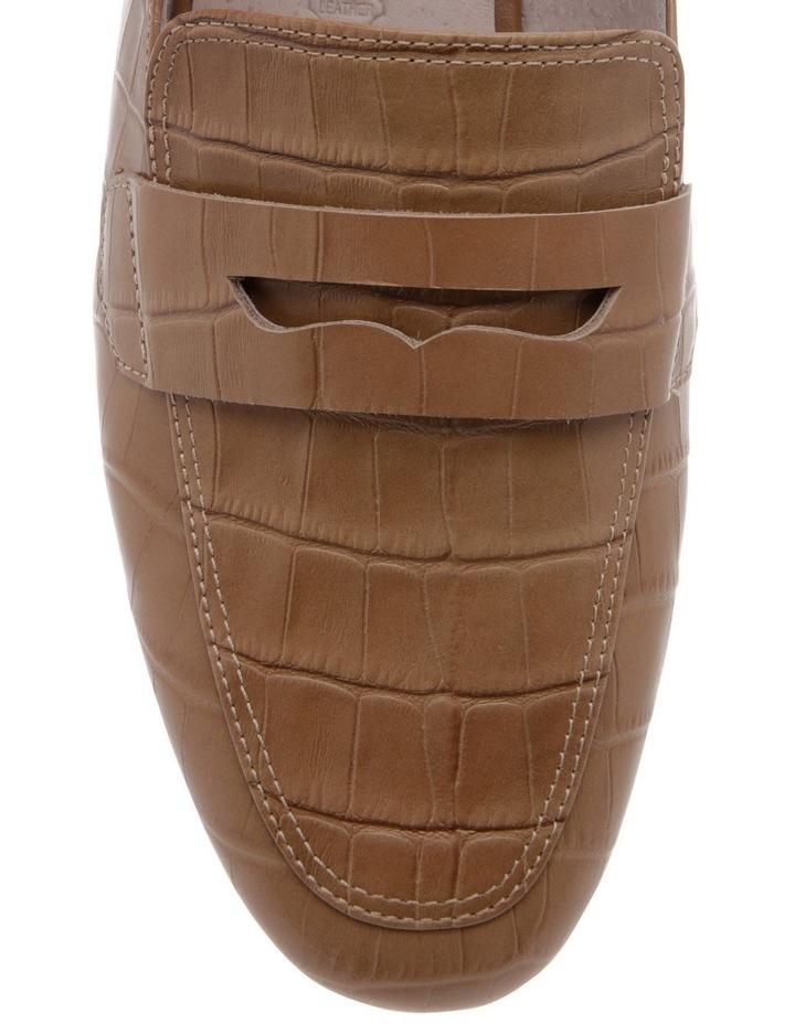 Heather Taupe Croc Print Leather Flat image 3