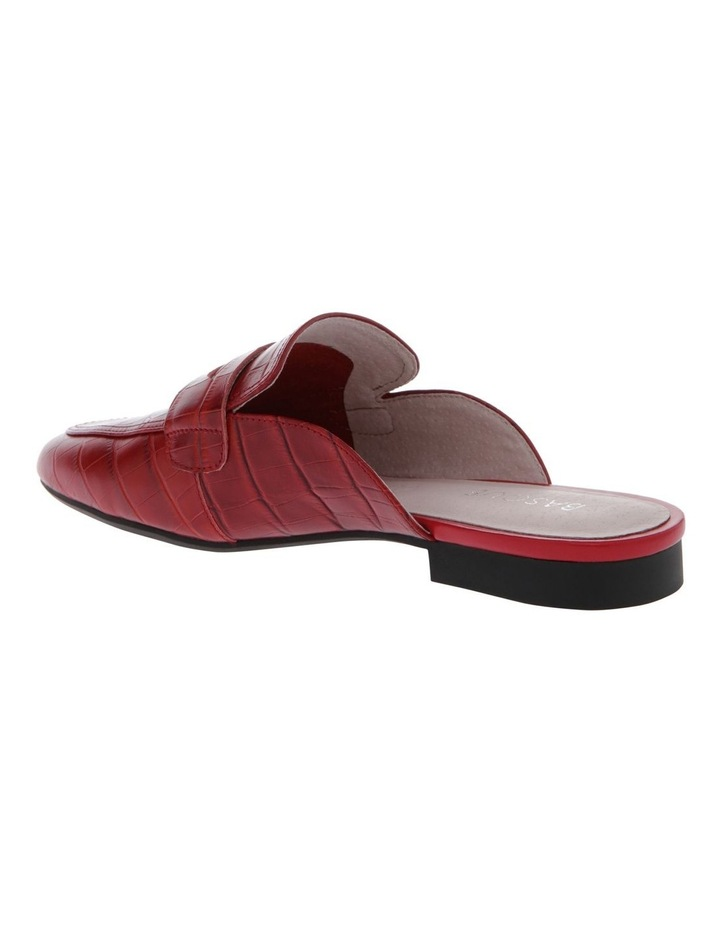 Heather Red Croc Print Leather Flat image 2