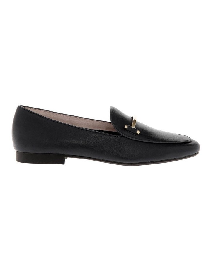 Hannah Black Cow Leather Flat image 1
