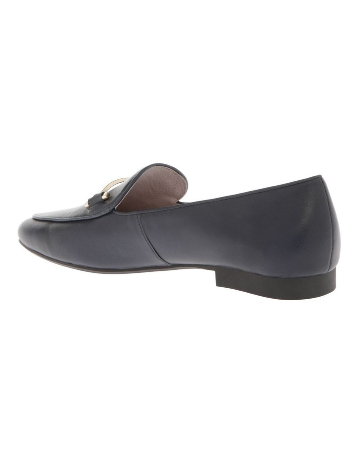 Hannah Navy Cow Leather Flat image 2