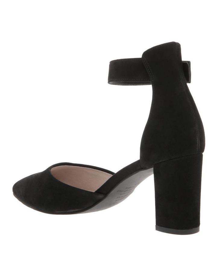 Freida Black Kid Suede Heeled Shoe image 2