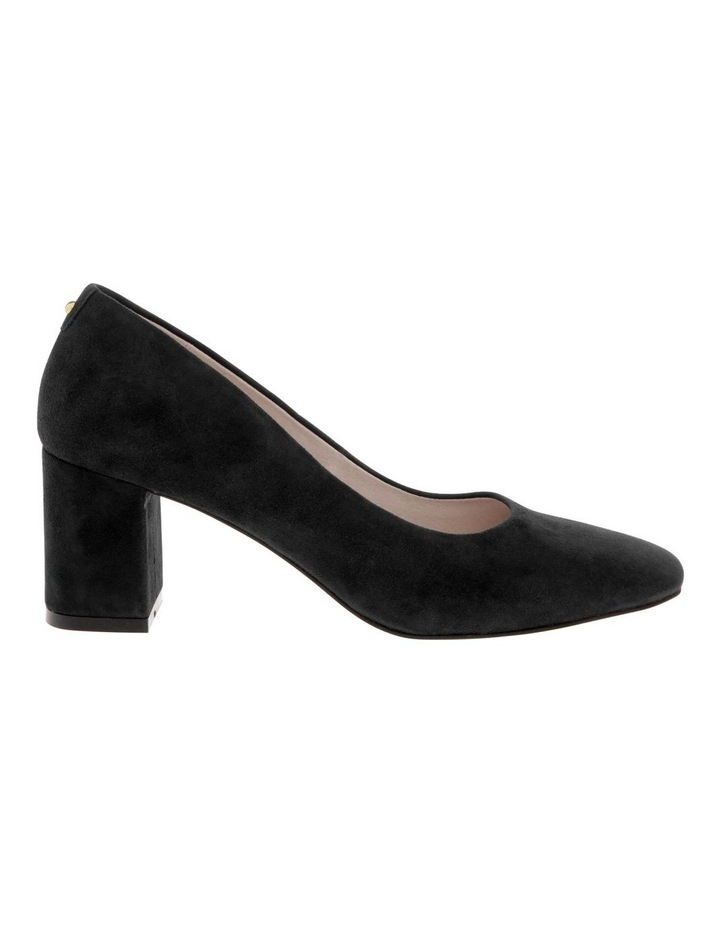 Josie Black Kid Suede Heeled Shoe image 1