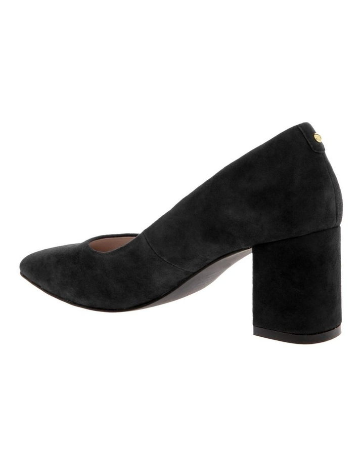 Josie Black Kid Suede Heeled Shoe image 2
