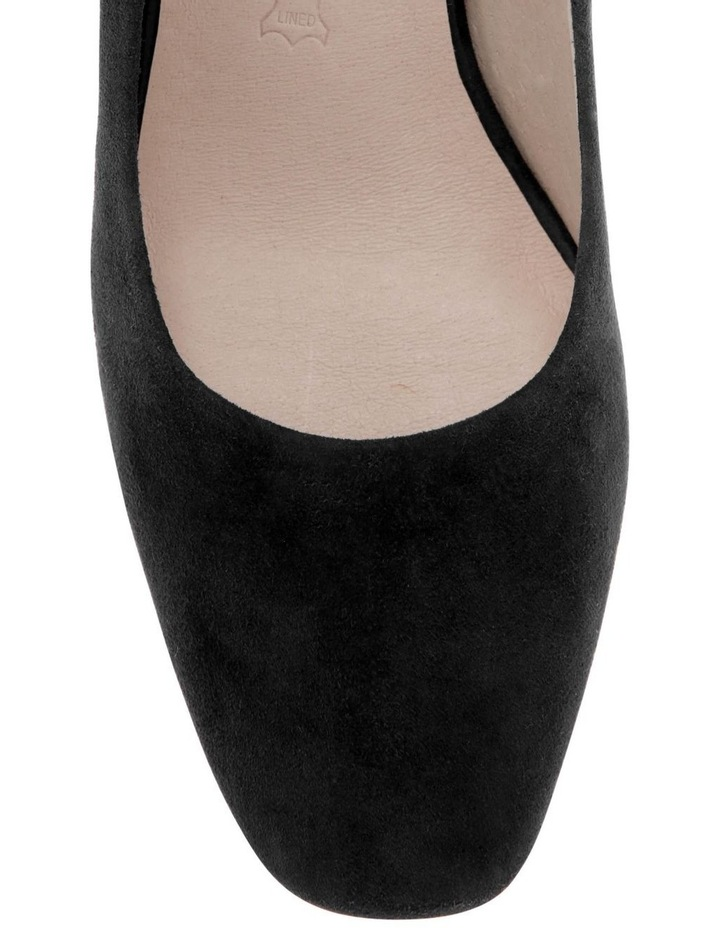 Josie Black Kid Suede Heeled Shoe image 3