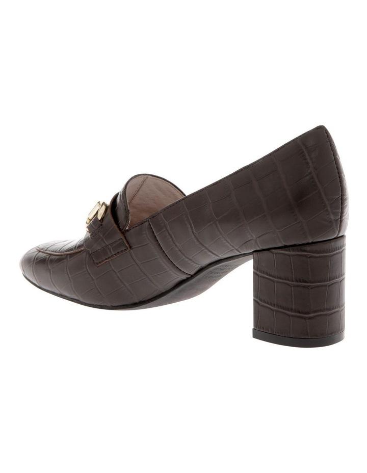 Gretel Brown Croc Print Cow Leather Heeled Shoe image 2