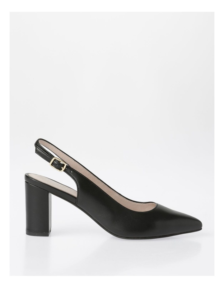 Etta Black Smooth Leather Heel image 1