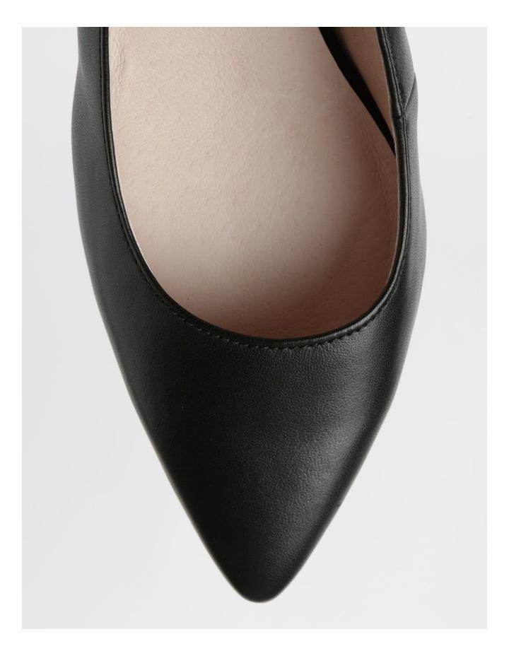 Etta Black Smooth Leather Heel image 2