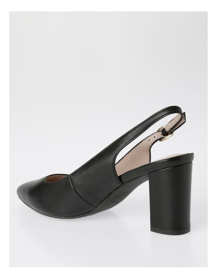 Etta Black Smooth Leather Heel image 3