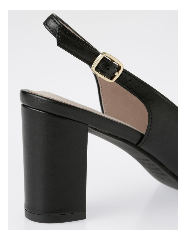 Etta Black Smooth Leather Heel image 4