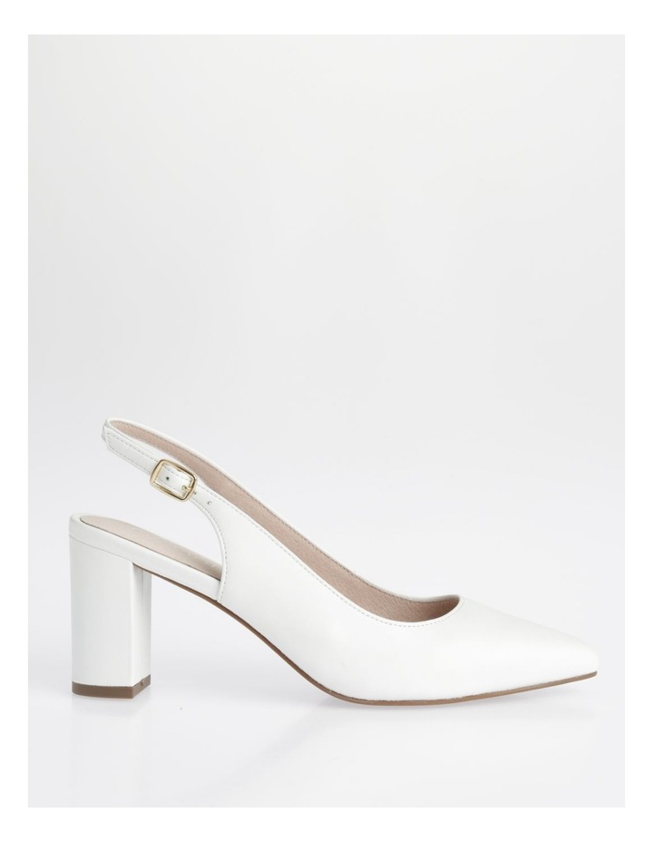 Etta White Smooth Leather Heel image 1
