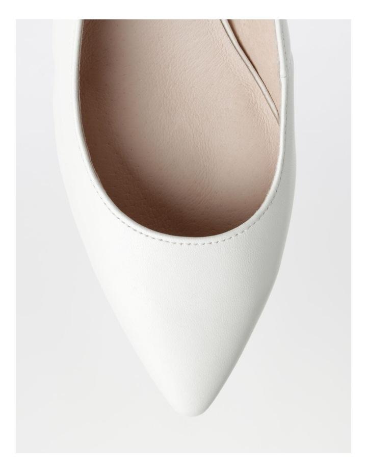 Etta White Smooth Leather Heel image 2