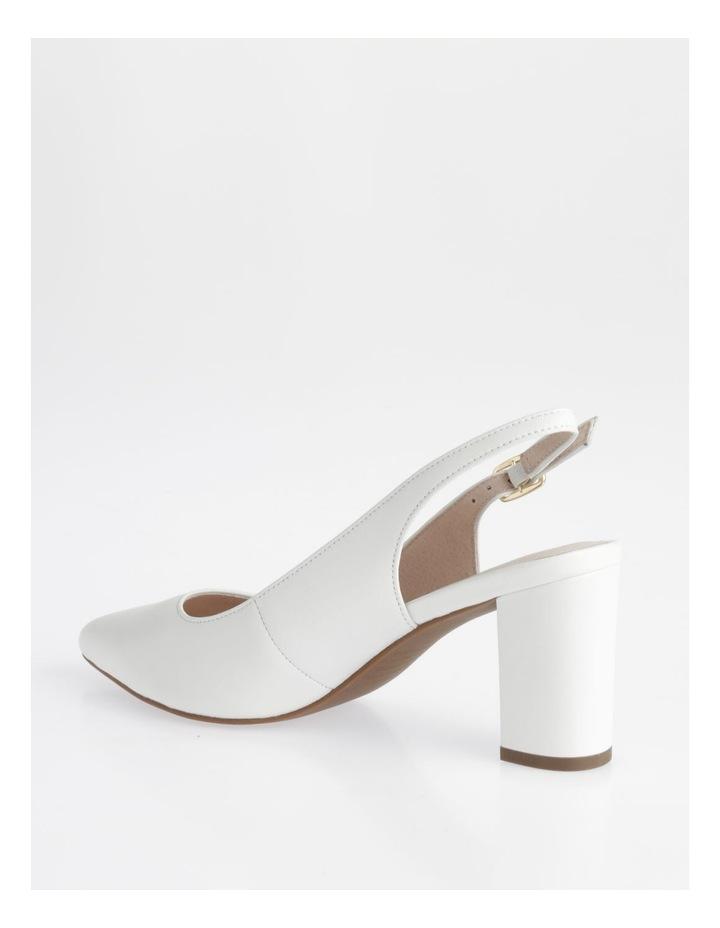 Etta White Smooth Leather Heel image 3
