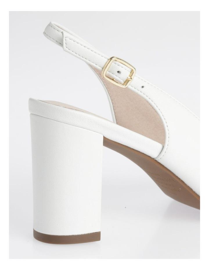 Etta White Smooth Leather Heel image 4
