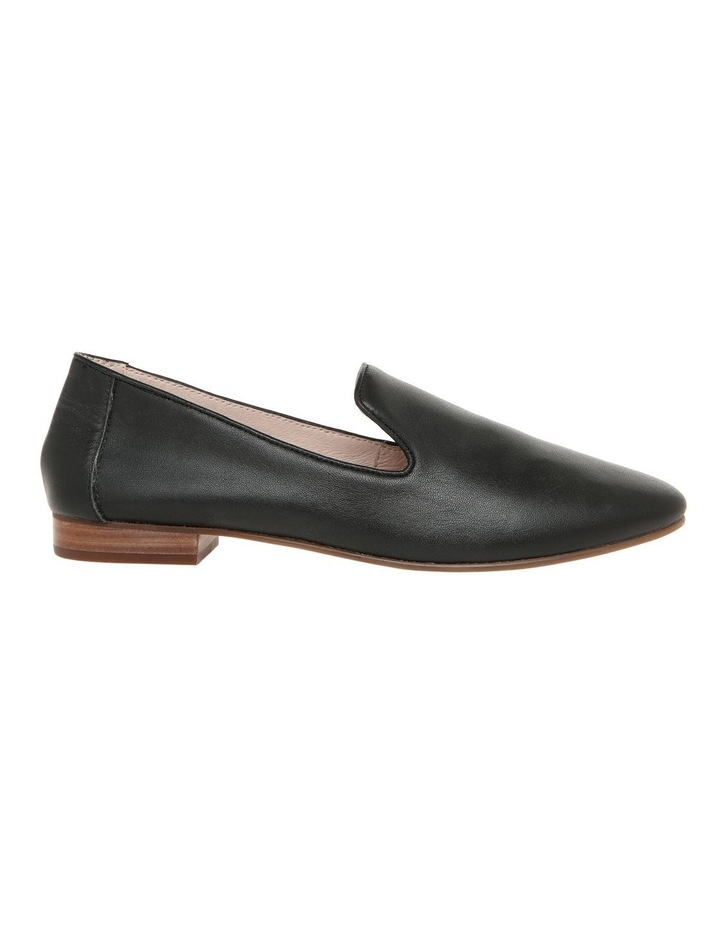 Bonnie Black Leather Flat Shoe image 1