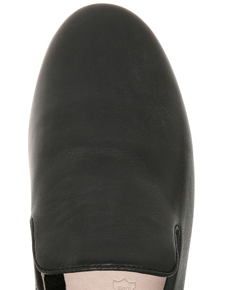 Bonnie Black Leather Flat Shoe image 2
