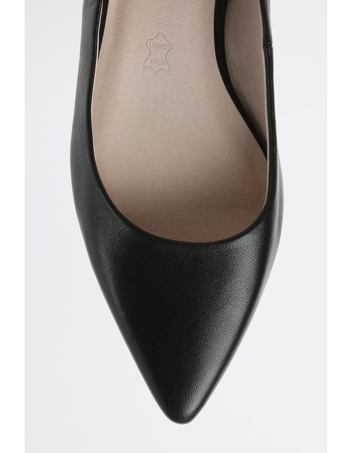 Poppy Black Flat Shoe image 2