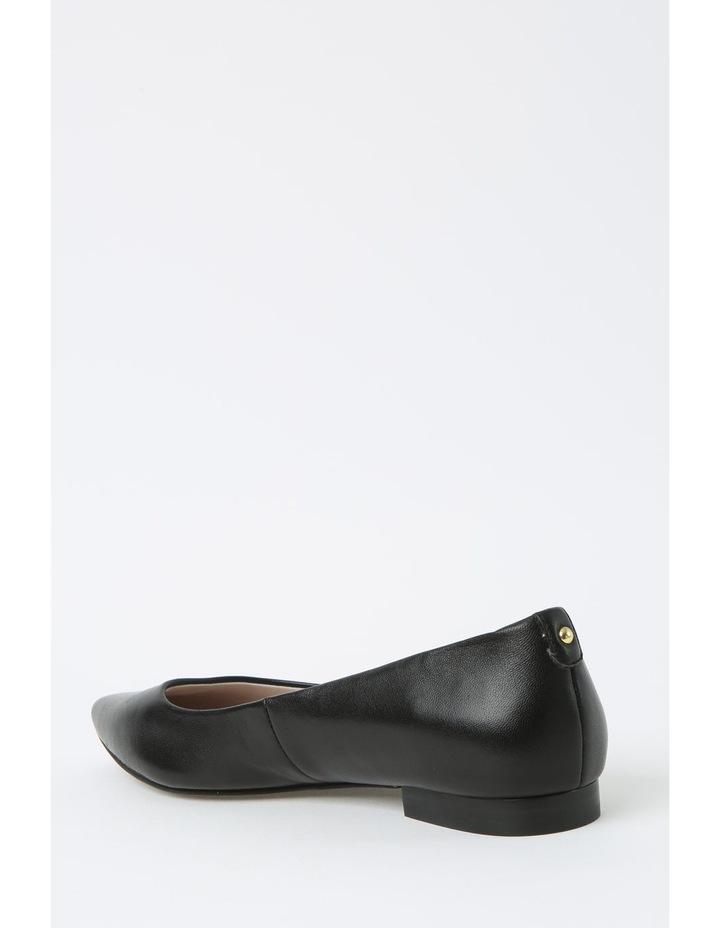 Poppy Black Flat Shoe image 3