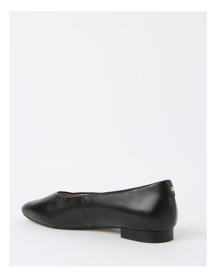 Chica Black Flat Shoe image 3