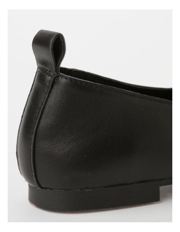 Mara Black Flat Shoe image 5