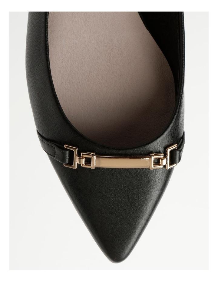 Geneva Black Flat Shoe image 2