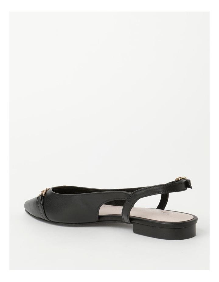 Geneva Black Flat Shoe image 3