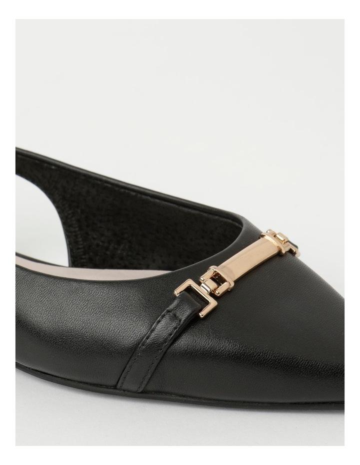 Geneva Black Flat Shoe image 4
