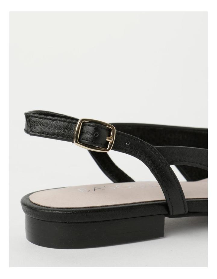 Geneva Black Flat Shoe image 5