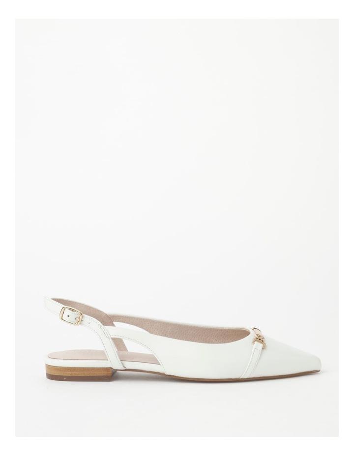 Geneva White Flat Shoe image 1