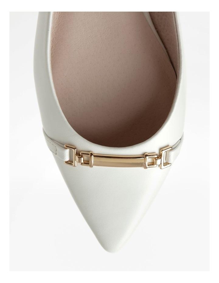 Geneva White Flat Shoe image 2