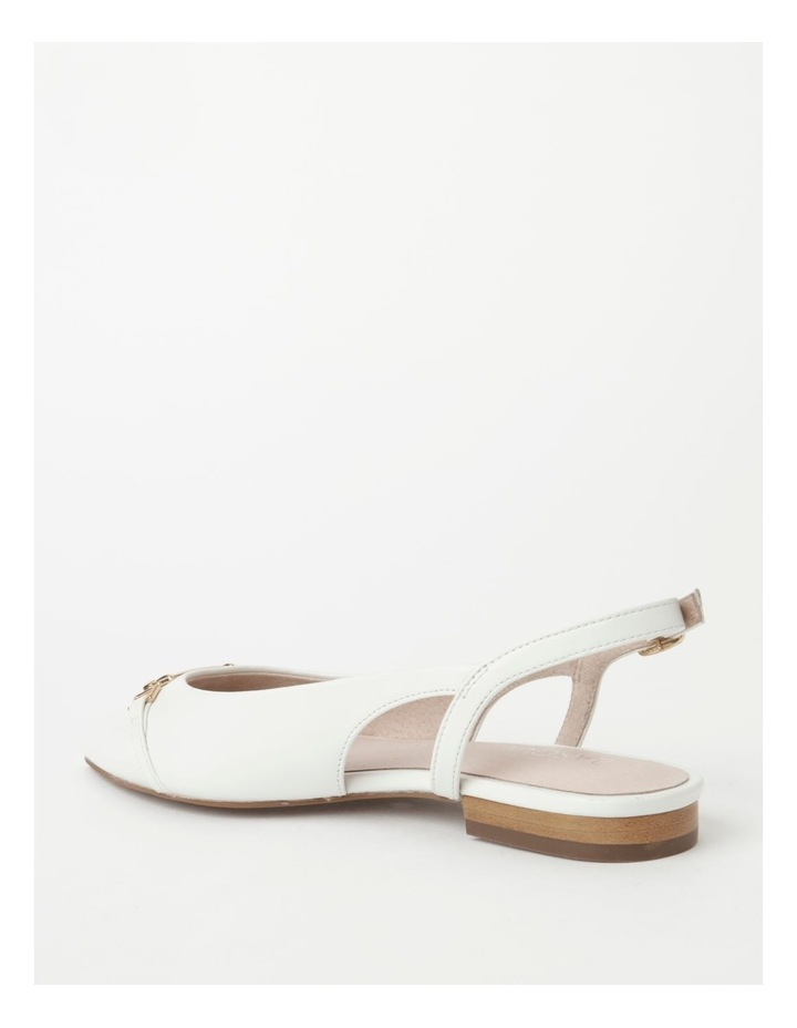 Geneva White Flat Shoe image 3