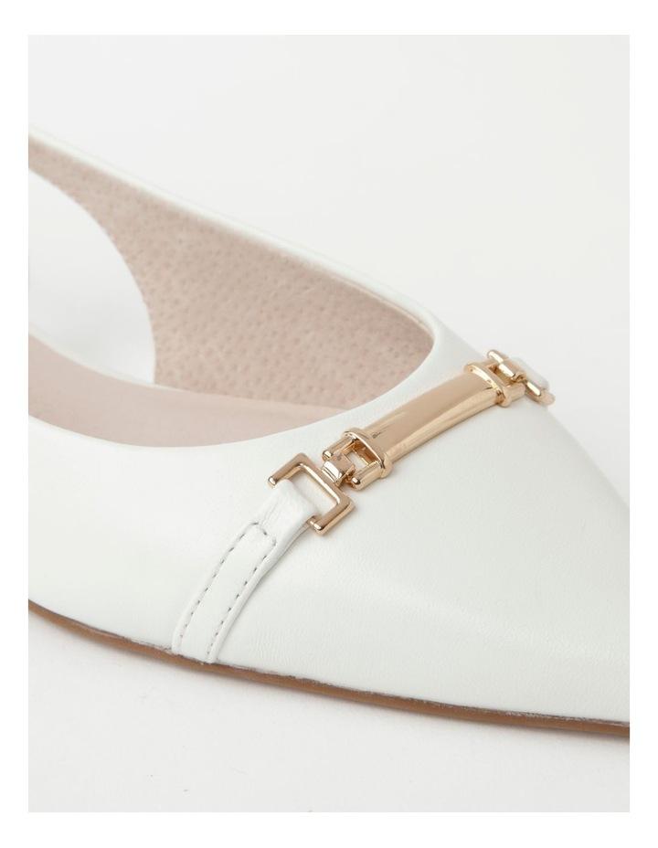 Geneva White Flat Shoe image 4
