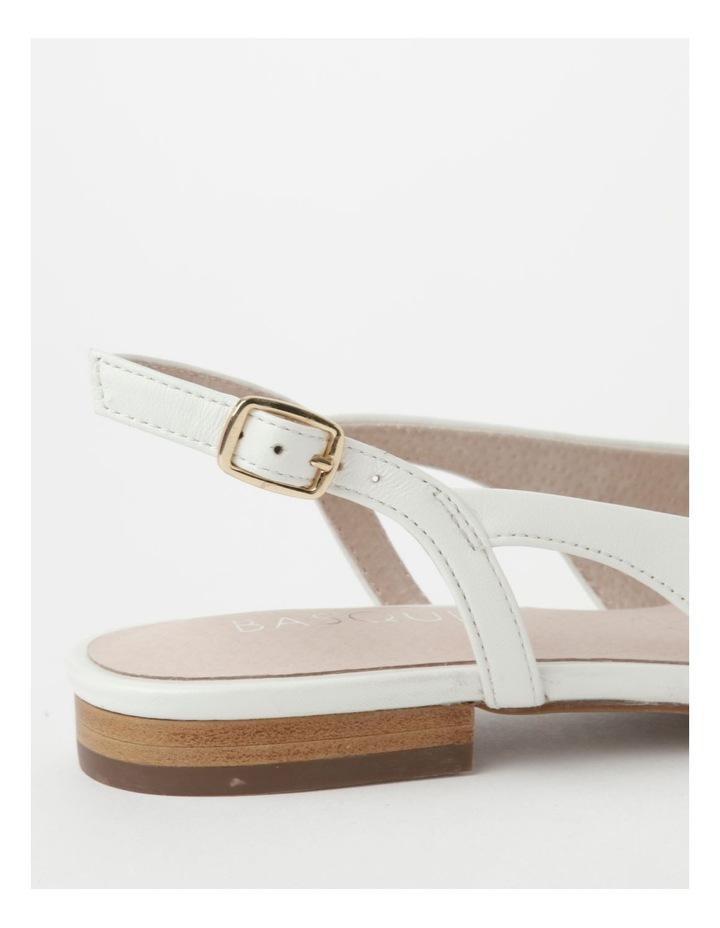 Geneva White Flat Shoe image 5