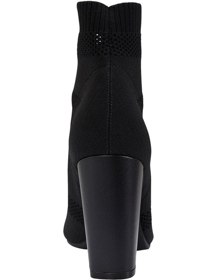Unique Black Fabric Stretch Boot image 5