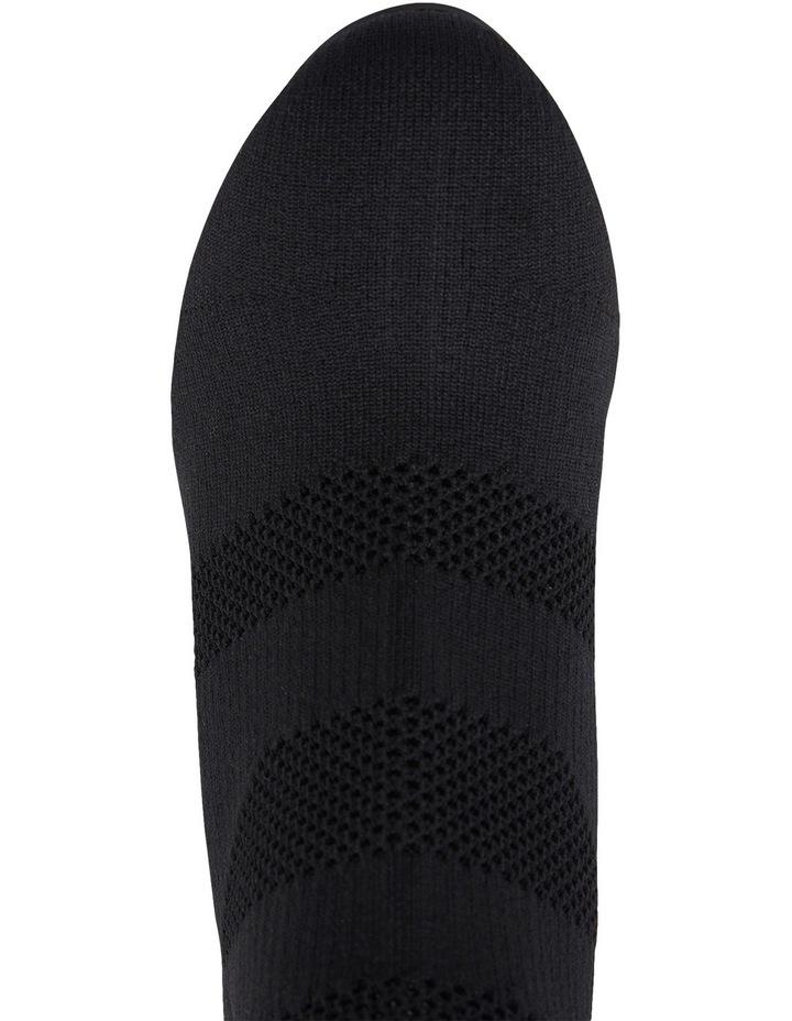 Unique Black Fabric Stretch Boot image 7