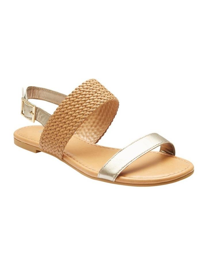 Durban Gold Metallic/Camel Sandal image 2