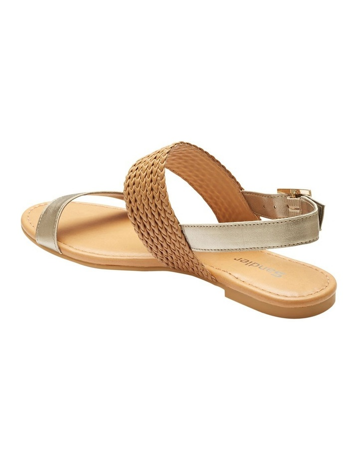 Durban Gold Metallic/Camel Sandal image 3