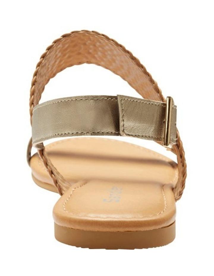 Durban Gold Metallic/Camel Sandal image 4