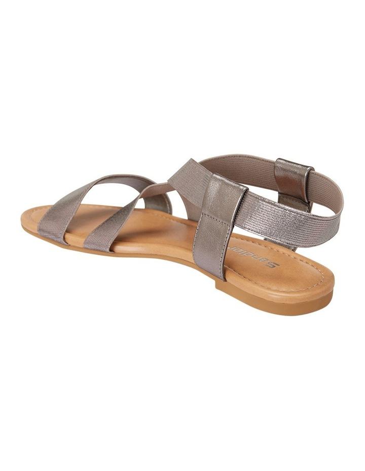 Decoy Pewter Elastic/Metallic Sandal image 3