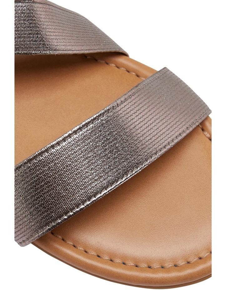 Decoy Pewter Elastic/Metallic Sandal image 4
