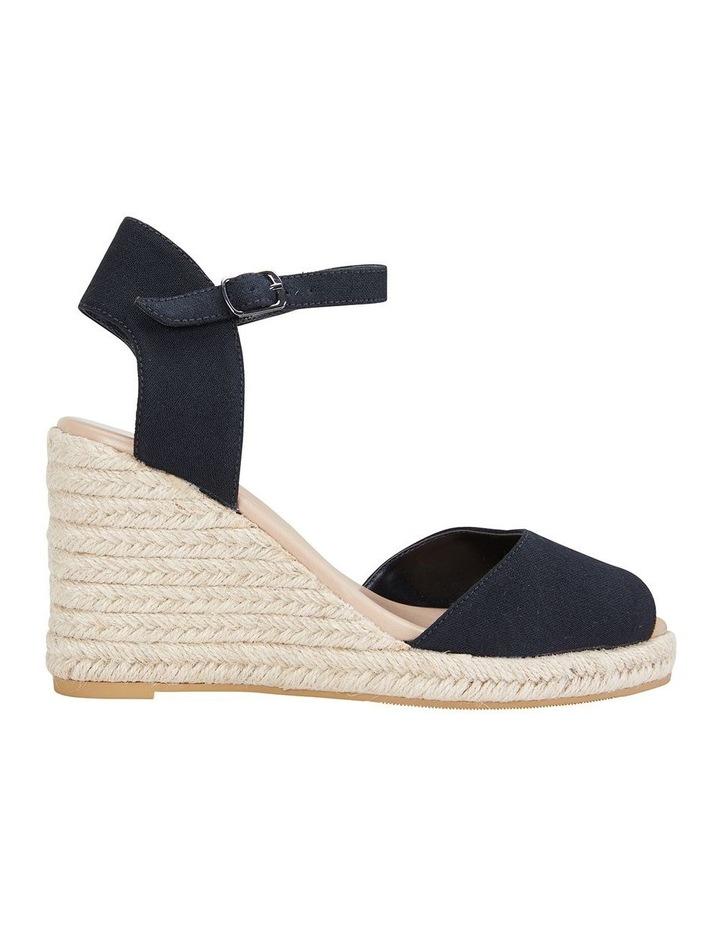 Aloha Black Linen Sandal image 1