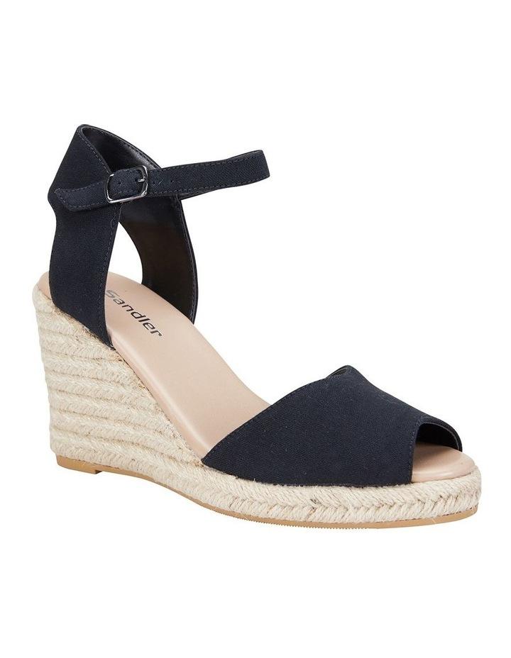 Aloha Black Linen Sandal image 2
