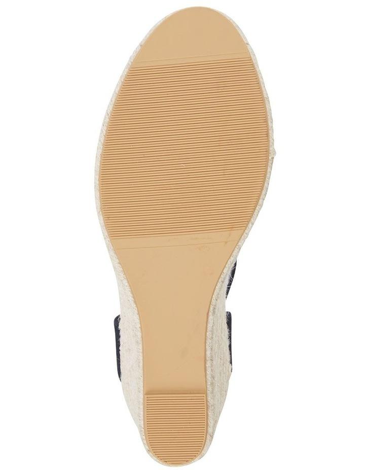 Aloha Black Linen Sandal image 6