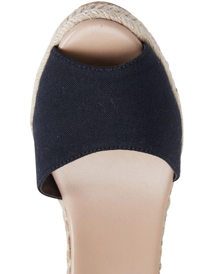 Aloha Black Linen Sandal image 7